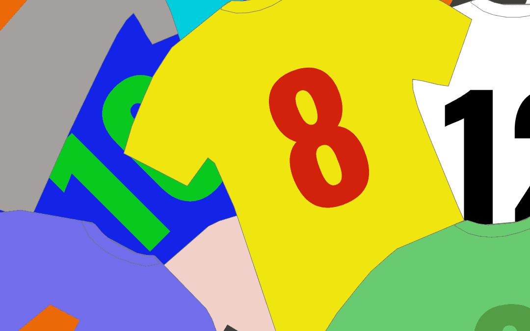 Rückennummern im Fussball